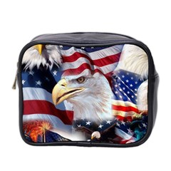 United States Of America Images Independence Day Mini Toiletries Bag 2-Side