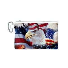 United States Of America Images Independence Day Canvas Cosmetic Bag (S)