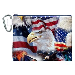 United States Of America Images Independence Day Canvas Cosmetic Bag (XXL)