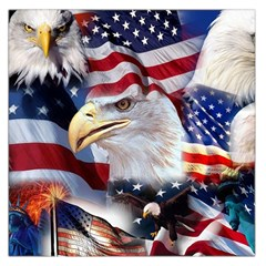 United States Of America Images Independence Day Large Satin Scarf (Square)