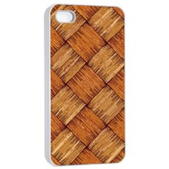 Vector Square Texture Pattern Apple iPhone 4/4s Seamless Case (White)