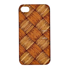 Vector Square Texture Pattern Apple iPhone 4/4S Hardshell Case with Stand