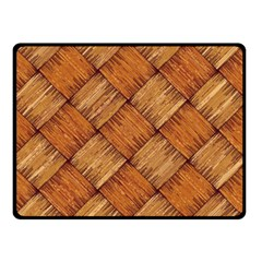 Vector Square Texture Pattern Double Sided Fleece Blanket (Small)