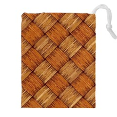 Vector Square Texture Pattern Drawstring Pouches (XXL)