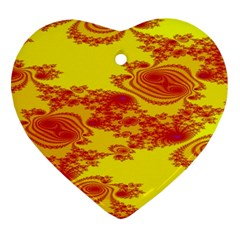 Floral Fractal Pattern Heart Ornament (Two Sides)