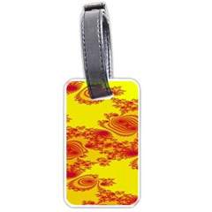 Floral Fractal Pattern Luggage Tags (One Side)