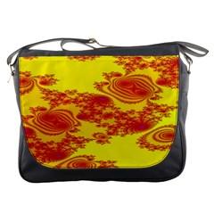 Floral Fractal Pattern Messenger Bags