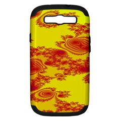 Floral Fractal Pattern Samsung Galaxy S III Hardshell Case (PC+Silicone)