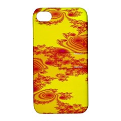 Floral Fractal Pattern Apple iPhone 4/4S Hardshell Case with Stand