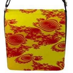 Floral Fractal Pattern Flap Messenger Bag (S)