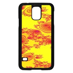 Floral Fractal Pattern Samsung Galaxy S5 Case (Black)