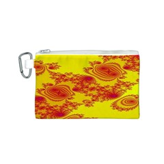 Floral Fractal Pattern Canvas Cosmetic Bag (S)