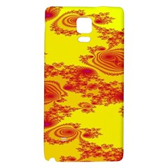 Floral Fractal Pattern Galaxy Note 4 Back Case