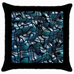 Old Spiderwebs On An Abstract Glass Throw Pillow Case (Black)