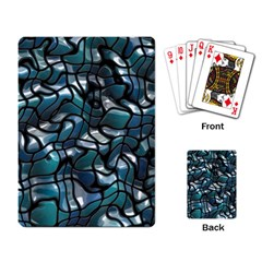Old Spiderwebs On An Abstract Glass Playing Card