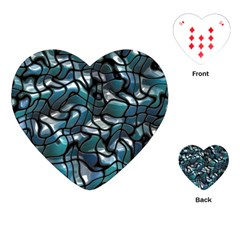 Old Spiderwebs On An Abstract Glass Playing Cards (Heart)