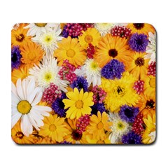 Colorful Flowers Pattern Large Mousepads