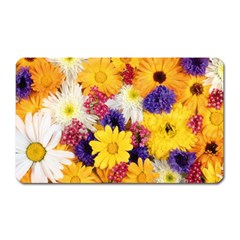 Colorful Flowers Pattern Magnet (Rectangular)