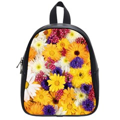 Colorful Flowers Pattern School Bags (Small)