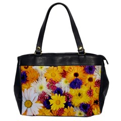 Colorful Flowers Pattern Office Handbags