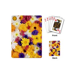 Colorful Flowers Pattern Playing Cards (Mini)