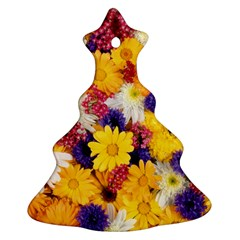 Colorful Flowers Pattern Ornament (Christmas Tree)