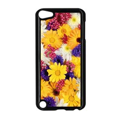 Colorful Flowers Pattern Apple iPod Touch 5 Case (Black)