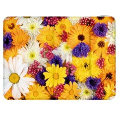 Colorful Flowers Pattern Samsung Galaxy Tab 7  P1000 Flip Case
