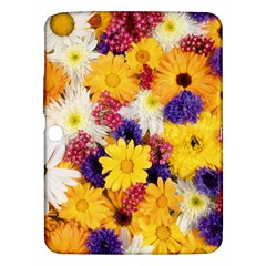Colorful Flowers Pattern Samsung Galaxy Tab 3 (10.1 ) P5200 Hardshell Case