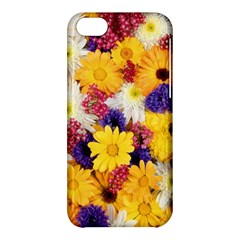 Colorful Flowers Pattern Apple iPhone 5C Hardshell Case