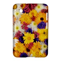 Colorful Flowers Pattern Samsung Galaxy Tab 2 (7 ) P3100 Hardshell Case