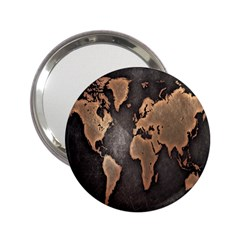 Grunge Map Of Earth 2.25  Handbag Mirrors