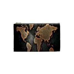 Grunge Map Of Earth Cosmetic Bag (Small)