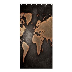 Grunge Map Of Earth Shower Curtain 36  x 72  (Stall)