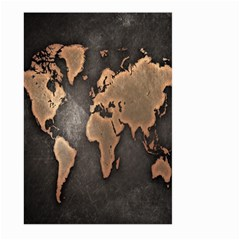 Grunge Map Of Earth Large Garden Flag (Two Sides)