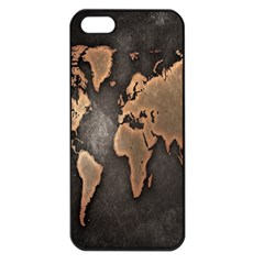 Grunge Map Of Earth Apple iPhone 5 Seamless Case (Black)