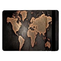 Grunge Map Of Earth Samsung Galaxy Tab Pro 12.2  Flip Case