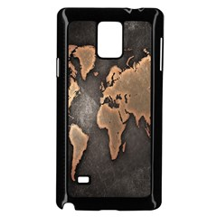 Grunge Map Of Earth Samsung Galaxy Note 4 Case (Black)