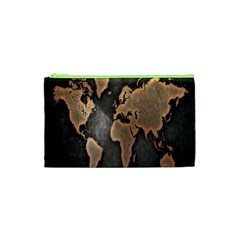 Grunge Map Of Earth Cosmetic Bag (XS)