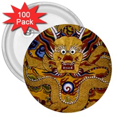 Chinese Dragon Pattern 3  Buttons (100 pack)