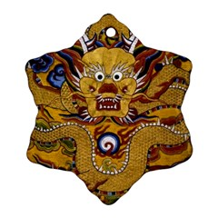 Chinese Dragon Pattern Snowflake Ornament (Two Sides)
