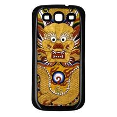 Chinese Dragon Pattern Samsung Galaxy S3 Back Case (Black)