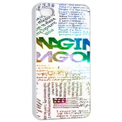 Imagine Dragons Quotes Apple iPhone 4/4s Seamless Case (White)