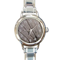 Sea Fan Coral Intricate Patterns Round Italian Charm Watch