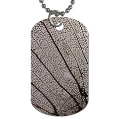 Sea Fan Coral Intricate Patterns Dog Tag (One Side)