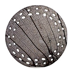 Sea Fan Coral Intricate Patterns Round Filigree Ornament (Two Sides)