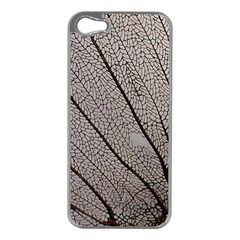 Sea Fan Coral Intricate Patterns Apple iPhone 5 Case (Silver)