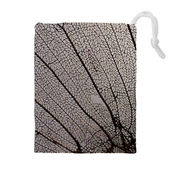 Sea Fan Coral Intricate Patterns Drawstring Pouches (Extra Large)