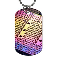 Optics Electronics Machine Technology Circuit Electronic Computer Technics Detail Psychedelic Abstract Dog Tag (One Side)