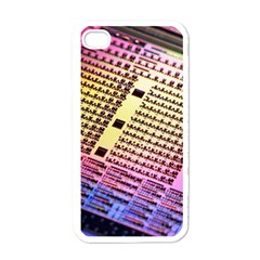 Optics Electronics Machine Technology Circuit Electronic Computer Technics Detail Psychedelic Abstract Apple iPhone 4 Case (White)
